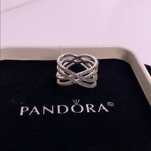 Pandora Women's Cosmic Lines Ring.
